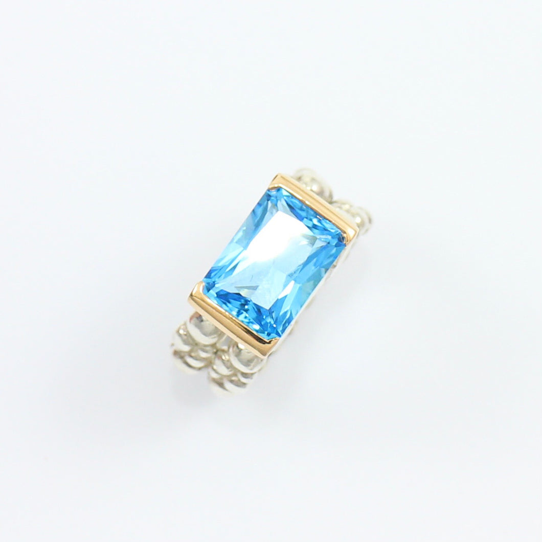 Swiss Blue Topaz Cosmopolitan Cocktail Ring