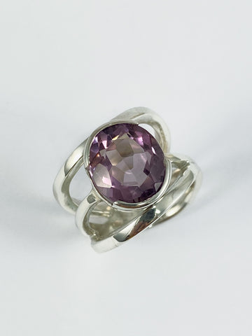 Amethyst Triple Band Ring