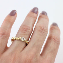 Load image into Gallery viewer, 9ct Gold Diamond Pebble Ring