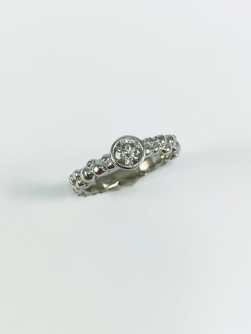 Platinum Mini Bubble Ring