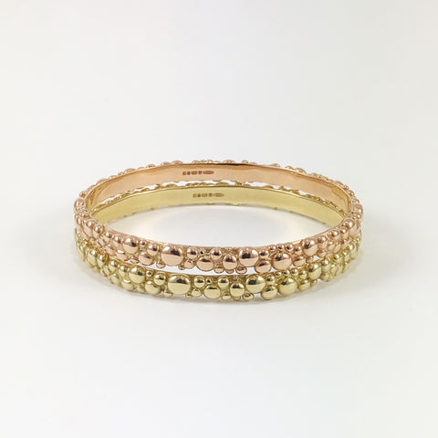Gold Bubble Bangle