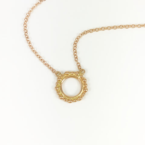 Rose Gold Bubble Necklace
