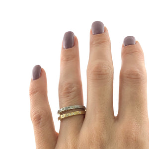 Bella Onda Gold Diamond Stacking Ring