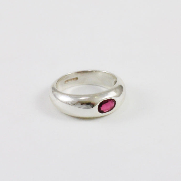 Pink Tourmaline Dome Ring