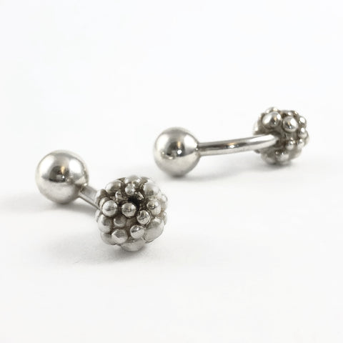 Silver Bubble Cufflinks Ball
