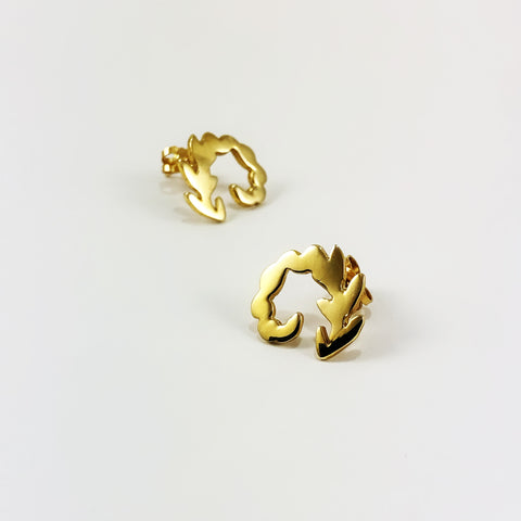 Unfurling Fern Gold Earring