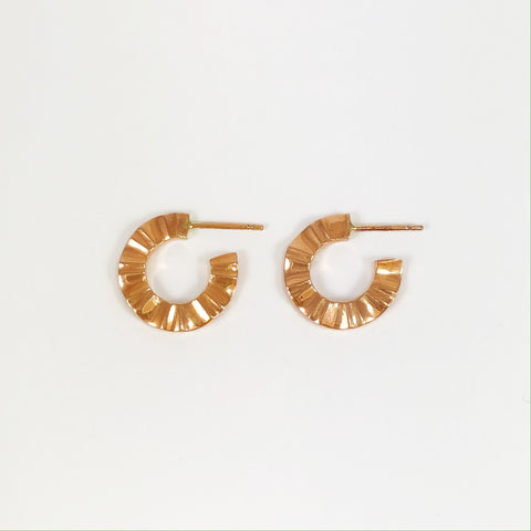 Rose Gold Wave Hoops