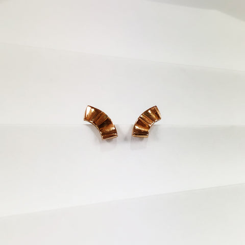 Rose Gold Wave Mini Studs