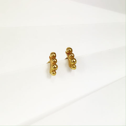 Gold Mini Bubble Studs