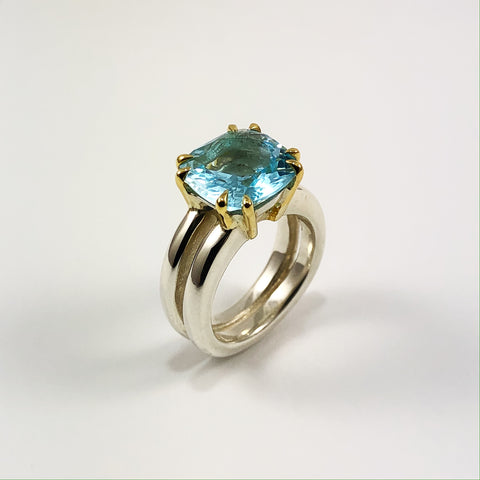 Topaz Split Ring
