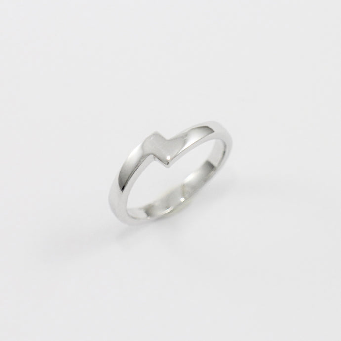 White Gold Zigzag Wedding Ring