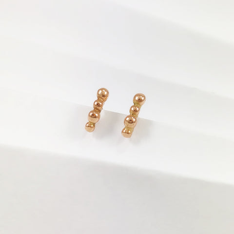 Rose Gold Mini Bubble Studs