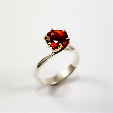 Fire Citrine Twist Ring
