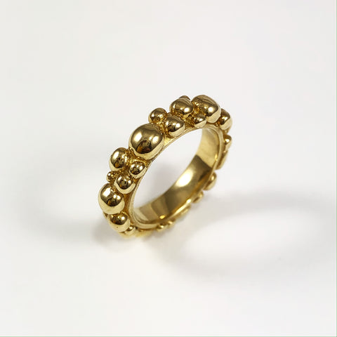 Gold Bubble Ring Med
