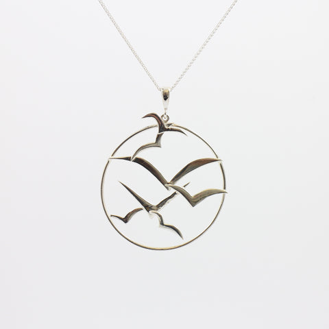 Sea Bird Circle Pendant