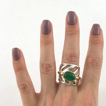 Load image into Gallery viewer, Unfurled Emerald Ring