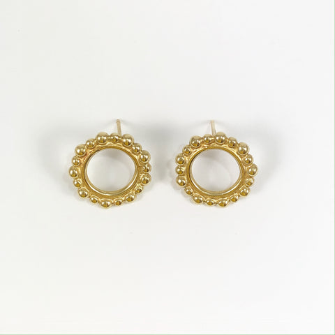 Gold Front Facing Bubble Studs