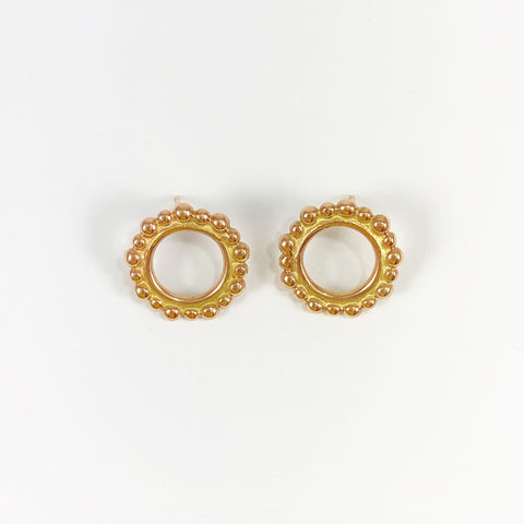 Rose Gold Front Facing Bubble Studs