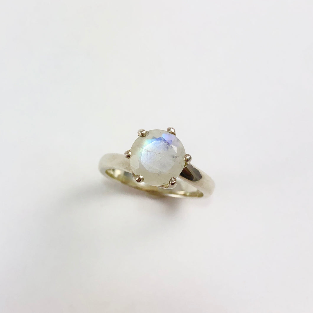Moonstone Solitaire Ring