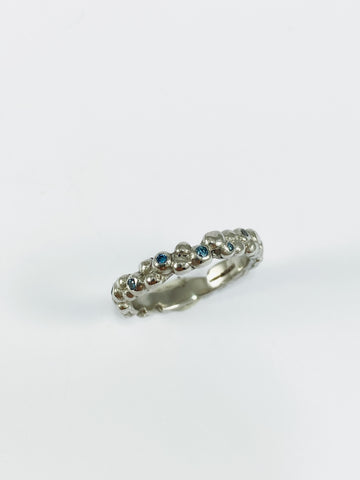 Diamond Mini Platinum Bubble Ring