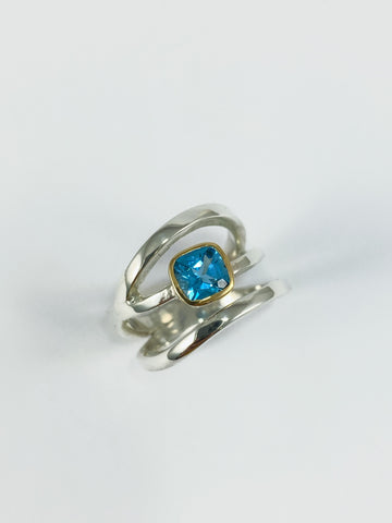 Topaz Triple Band Ring