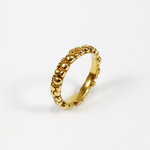 Gold Mini Bubble Ring