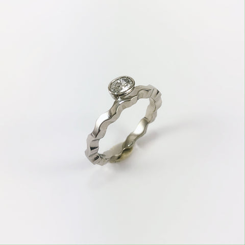 Platinum Wave Ring