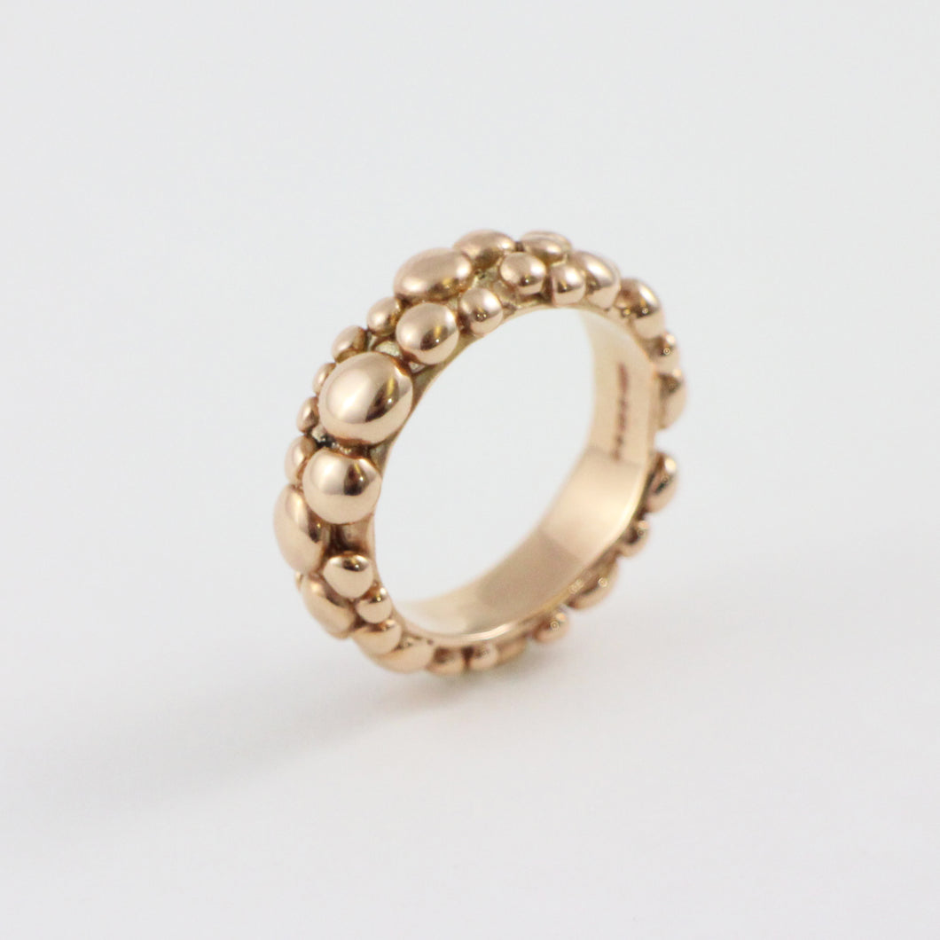Large Gold Bubble Ring
