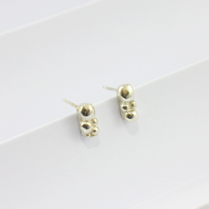 Silver Bubble Stud Earrings