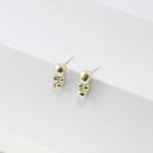 Load image into Gallery viewer, Silver Bubble Stud Earrings