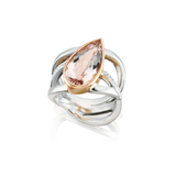 Morganite Platinum & Gold Ring