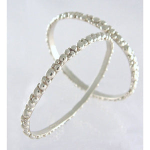 Silver Bubble Bangle Upright by Charlotte Cornelius