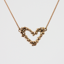 Load image into Gallery viewer, Rose Gold Pebble Heart Necklace