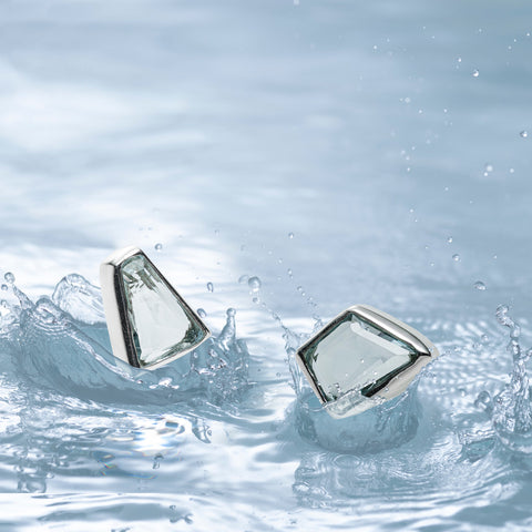Diamond Lagoon Aquamarine Studs