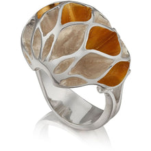 Load image into Gallery viewer, Casbah dome ring, Sterling Silver with 18ct Yellow Gold Vermeil
