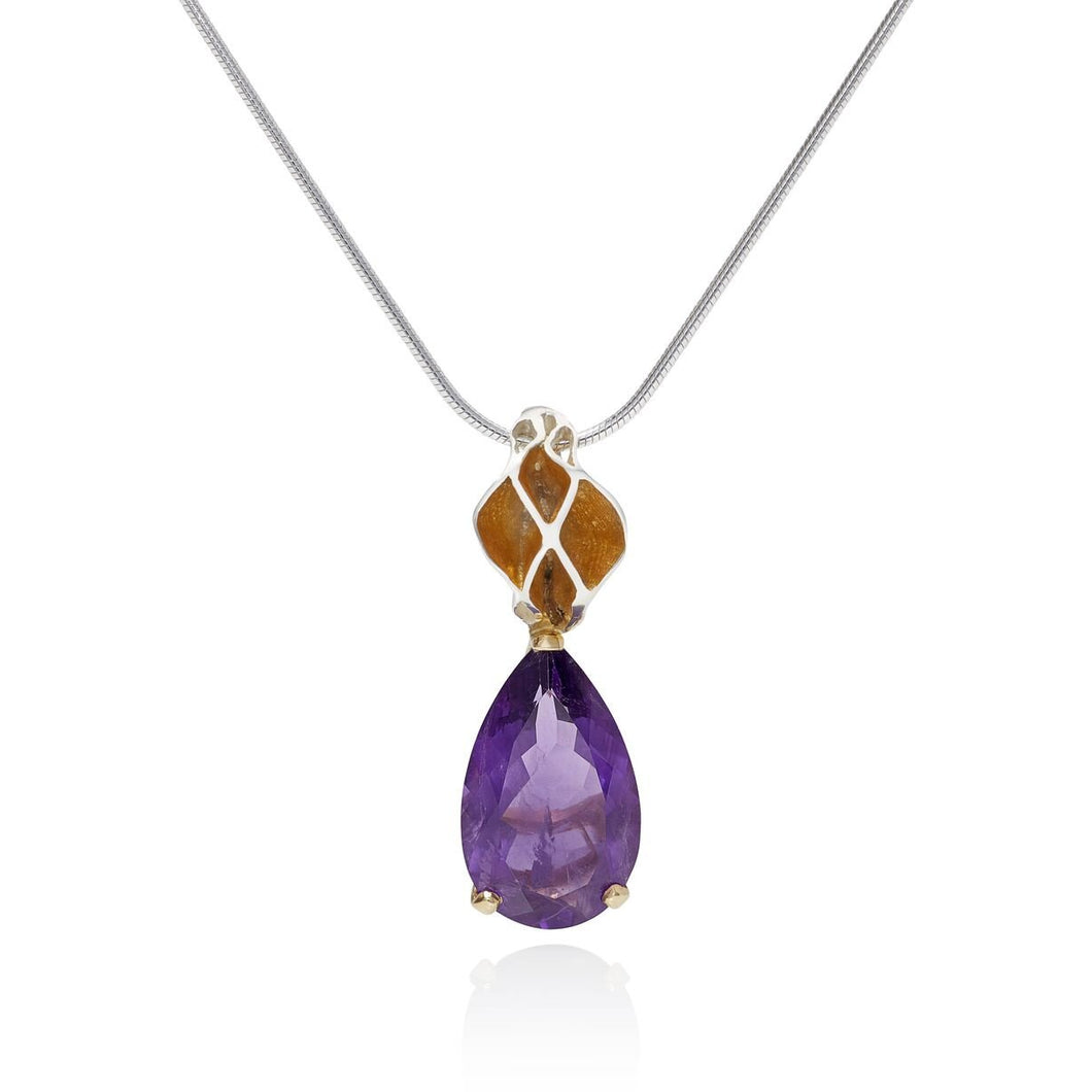 Royal Casbah Amethyst drop pendant
