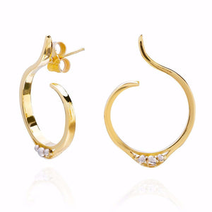 18ct Gold & Platinum Stud Earrings
