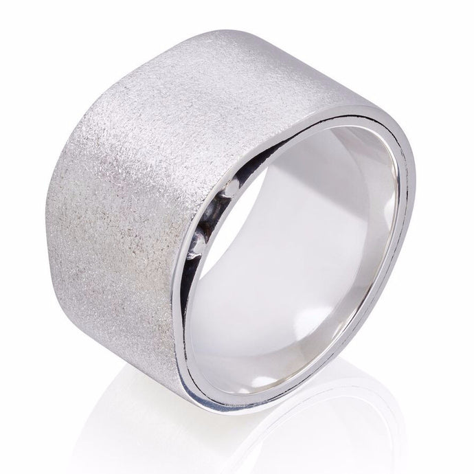 Wide Sterling Silver Oxidised ring