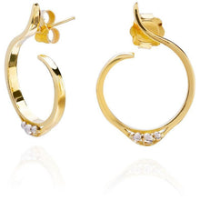 Load image into Gallery viewer, 18ct Gold & Platinum Stud Earrings