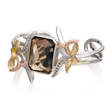 Load image into Gallery viewer, 'Lylla' Octagon Cut Smoky Quartz Bangle