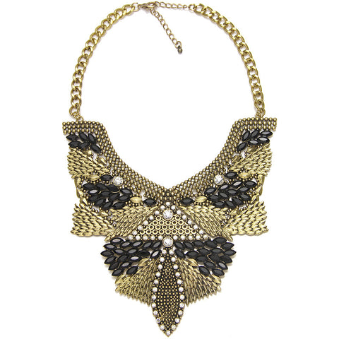 "The ""PREET"" Gold Statement Necklace"