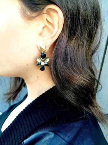 Sachi Black Earrings
