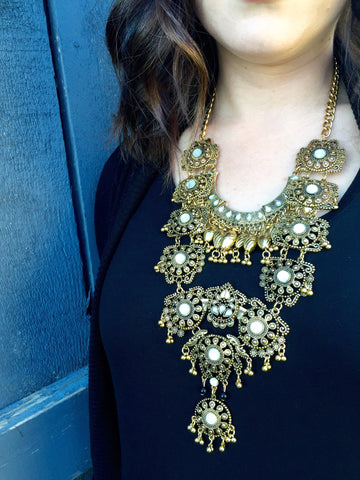 Antiqued Savannah Statement Necklace
