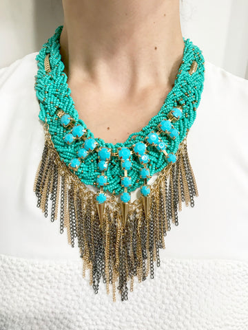 The ARIA Turquoise Chain Necklace