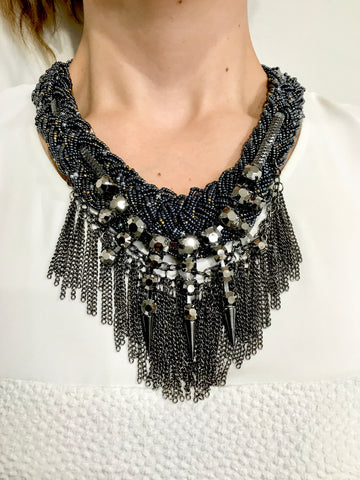 The ARIA Pewter Chain Necklace