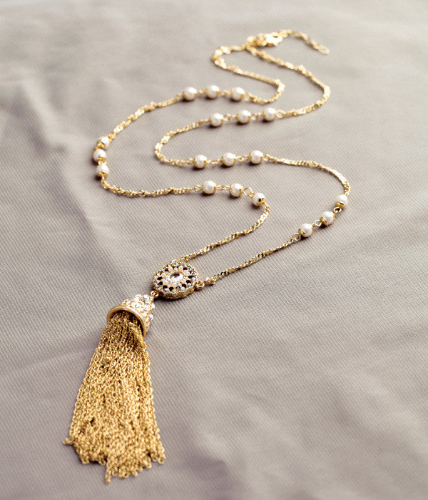 Elegant Lily Tassel Necklace