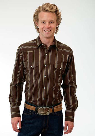 Roper Mens Brown Stripe