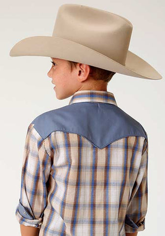 Roper Boys Yoke Plaid