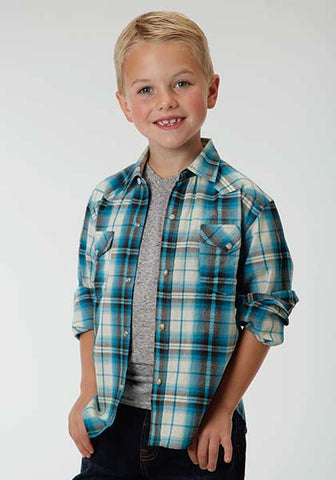 Boys Roper Blue Plaid