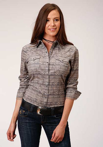 Roper Ladies Aztec Grey